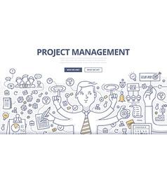 Project management doodle concept vector