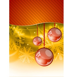 red christmas balls vector image