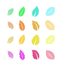 Set of Flat Colorful Leaves vector image vector image