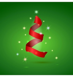 Stylized ribbon christmas tree vector