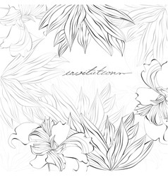 template for card or invitation vector image vector image