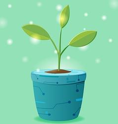 Tree Pot Eco Technology Design vector image vector image
