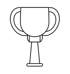 Trophy ball winner award outline vector