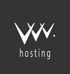 V letter or abstract web hosting sign logo vector image vector image