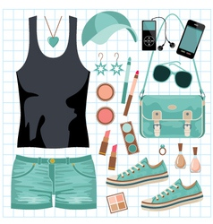 Youth fashionable set vector