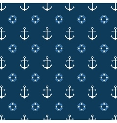 Seamless pattern with a lifeline and anchor vector