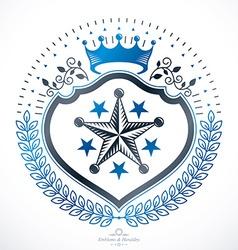 Heraldic sign element heraldry emblem insignia vector