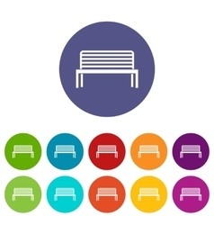 Bench set icons vector