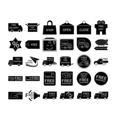 Free shipping icon set vector