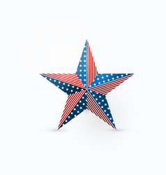 five-pointed star design vector image