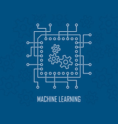 Machine learning artificial intelligence vector