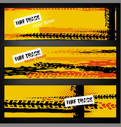 Tire banner template vector