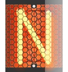 Radio tube N vector image