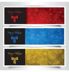 christmas bow backgrounds 0411 vector image