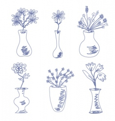sketch of vases vector image