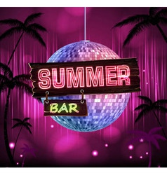 Summer disco background disco poster vector