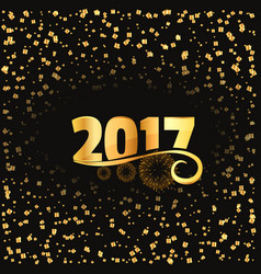 2017 celebration background with golden lettering vector