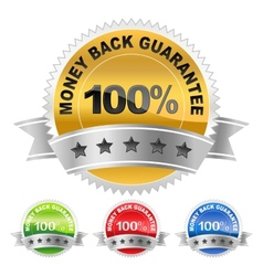 label money back vector image
