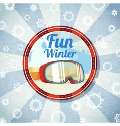 Badge with snowboarders or skiers goggles -fun vector