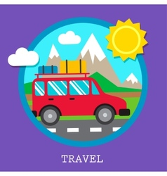 Travel car vector