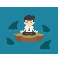 Businessman in a risky situation vector