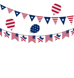 Hanging bunting pennants for independence day usa vector