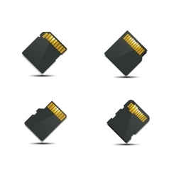 Set memory card vector