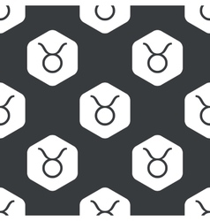 Black hexagon taurus pattern vector