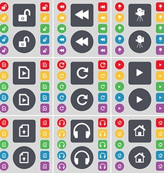 Lock rewind film camera music file reload media vector