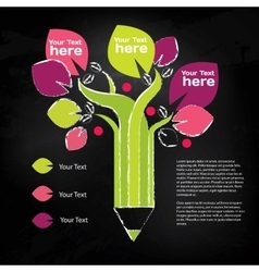 Pencil tree info graphic about education and vector