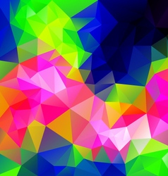 Infra neon spectrum polygonal triangular pattern vector