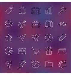 Universal web and mobile user interface line icons vector