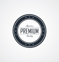 Premium signature label theme vector