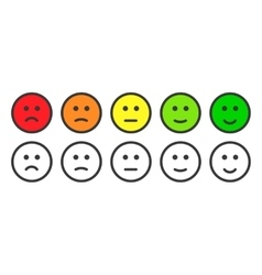 Emoji icons for rate of satisfaction level vector