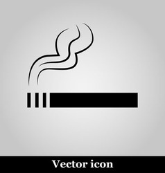 Smoke icon great for any use on grey background vector