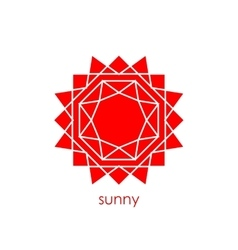 abstract sunm flat vector image vector image