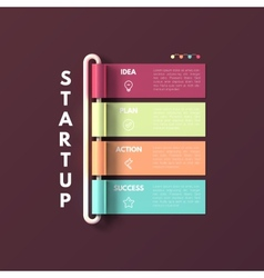 Banner business infographic template Startup vector image vector image
