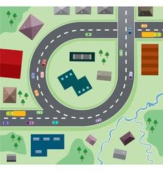 birdseye city vector image vector image