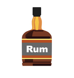 Bottle with rum vector