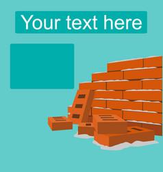 Brick wall flat style design vector