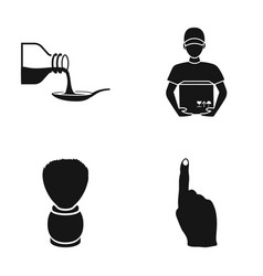 Cafe restaurant hygiene and other web icon in vector