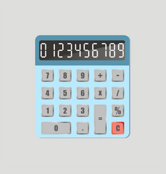 calculator with numbers vector image
