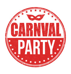Carnival party stamp vector
