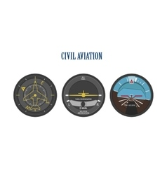 Control indicators of aircraft and helicopters vector