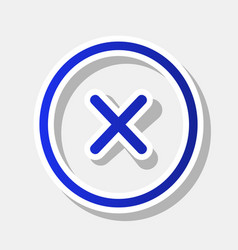 cross sign new year bluish vector image