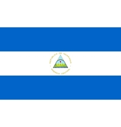 Flag of Nicaragua correct size and colors vector image