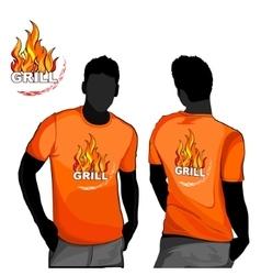 Grill t-shirt design vector