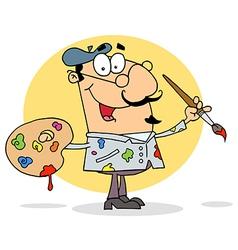 Happy artist painter vector