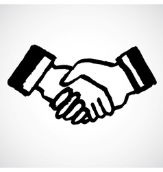 Ink draw handshake vector