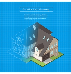 isometric 3d of city building blueprint vector image vector image